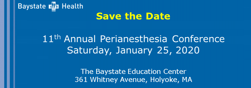 Perianesthesia Conference 2020